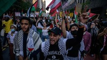 FOTO: Gema Dukungan dari 'Big Apple' New York untuk Palestina