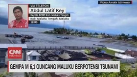VIDEO: Gempa M 6,1 Guncang Maluku Berpotensi Tsunami