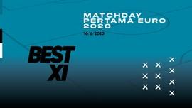 INFOGRAFIS: Best 11 Matchday 1 Euro 2020, Ronaldo Masuk