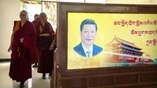 Foto Xi Jinping dan Upaya Hapus Pengaruh Dalai Lama di Tibet