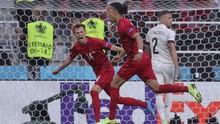 Denmark Unggul Atas Belgia di Babak Pertama Euro 2020