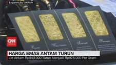 VIDEO: Harga Emas Antam Turun