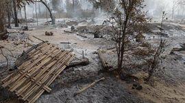 FOTO: Sisa-sisa Desa Myanmar Usai Dibakar Junta