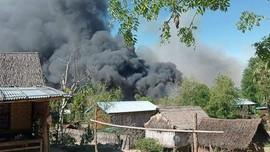 Pasukan Junta Myanmar Bakar Desa, Dua Lansia Gosong
