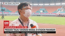 VIDEO: Presiden Tinjau Vaksinasi Massal di Stadion Pakansari