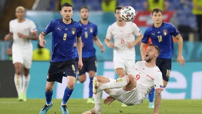 Dua pertandingan siaran langsung Euro 2020 (Euro 2021) akan tersaji pada hari ini, Minggu (20/6), termasuk laga Italia vs Wales.