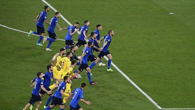Timnas Italia tidak bisa menjajal rumput lapangan Stadion Wembley sebelum bertanding melawan Austria di 16 Besar Euro 2020 (Euro 2021).