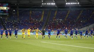 FOTO: Laju Serempak Italia ke 16 Besar Euro 2020