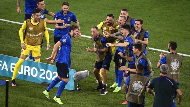 Timnas Italia mengejar hasil sempurna di fase grup saat menghadapi Wales pada laga terakhir Grup A Euro 2020 (Euro 2021).
