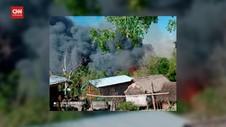 VIDEO: Junta Militer Myanmar Bakar Desa, 2 Lansia Tewas