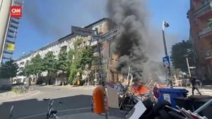 VIDEO: Kerusuhan di Jerman, 60 Polisi Luka-luka