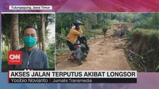 VIDEO: Akses Jalan Terputus Akibat Longsor