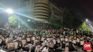 Konvoi Bonek Ricuh, Polisi Sempat Tembak Gas Air Mata
