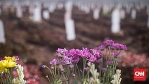 FOTO: Bunga-bunga Cinta di Pusara Rorotan