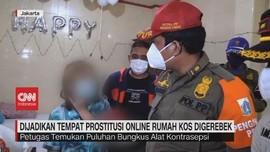 VIDEO: Dijadikan Tempat Prostitusi Online Rumah Kos Digerebek
