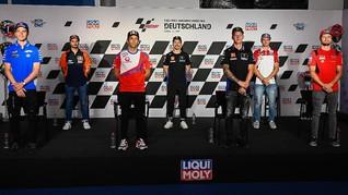 FOTO: Momen Bersahabat Jelang MotoGP Jerman 2021