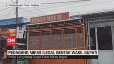 VIDEO: Pedagang Miras Ilegal Bentak Wakil Bupati