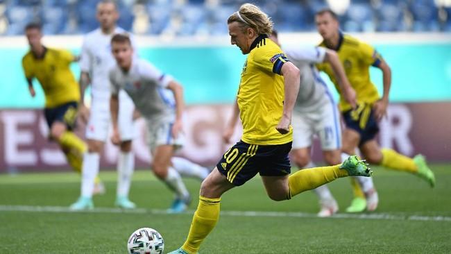 Hasil Euro 2020: Forsberg Antar Swedia Kalahkan Slovakia