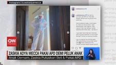 VIDEO: Zaskia Adya Mecca Pakai APD Demi Peluk Anak