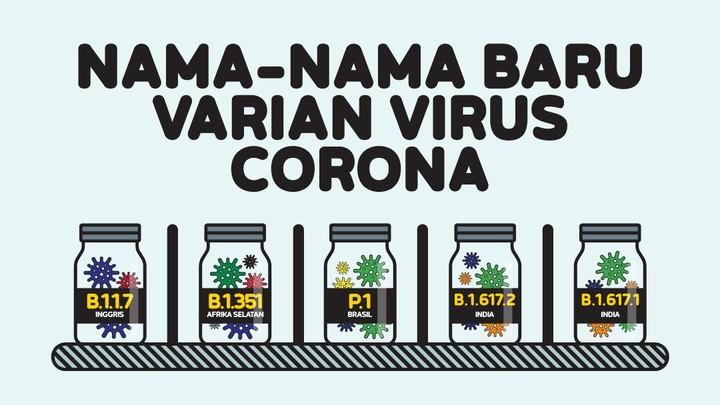 INFOGRAFIS: Nama-nama Baru Varian Virus Corona