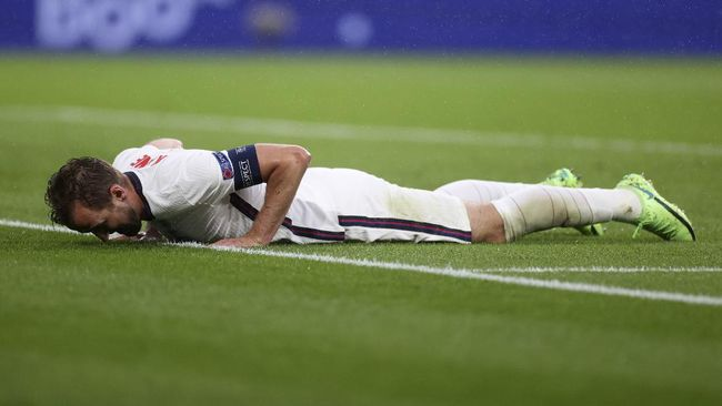 Sudah dua pertandingan, bomber timnas Inggris Harry Kane belum bisa mencetak gol di Euro 2020 (Euro 2021)