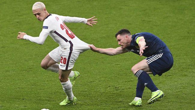 Inggris vs Skotlandia imbang di Euro 2020 (Euro 2021) hingga gelandang Denmark, Christian Eriksen, dipulangkan dari rumah sakit.