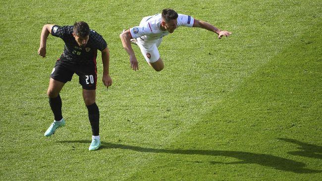 Timnas Kroasia harus puas bermain imbang melawan timnas Republik Ceko dengan skor 1-1 di Euro 2020 (Euro 2021).