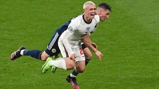 FOTO: Duel Lawas Inggris vs Skotlandia Tanpa Pemenang