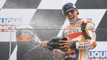 Marquez Kembali Juara, Rossi Masih Memble di MotoGP Jerman