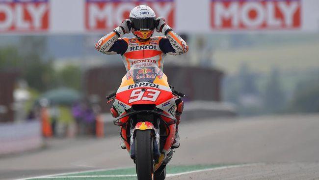 Marc Marquez merebut kemenangan di MotoGP Jerman 2021 usai mengalahkan Miguel Oliveira. Berikut fakta menarik usai Marquez menang.