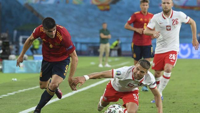 Klasemen Grup E Euro 2020 (Euro 2021) mengalami perubahan usai Spanyol ditahan 1-1 oleh Polandia.