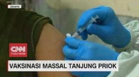 VIDEO: Vaksinasi Massal di Tanjung Priok