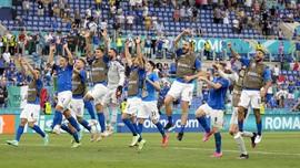 Klasemen Akhir Grup A Euro 2020: Italia Sempurna