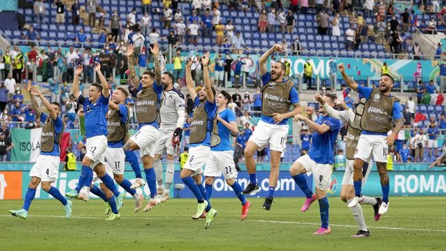 Italia dan Swiss menang di laga terakhir Grup A Euro 2020 (Euro 2021). Berikut klasemen akhir Grup A yang juga berisi Wales dan Turki.