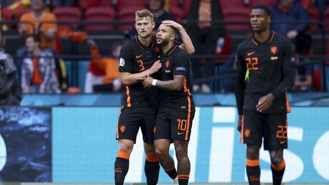Belanda Unggul atas Makedonia di Babak Pertama Euro 2020