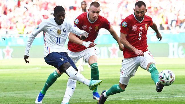 Winger Ousmane Dembele dipastikan tidak bisa memperkuat timnas Prancis di sisa Euro 2020 karena cedera.