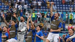 FOTO: Italia Tak Tertandingi di Grup A Euro 2020