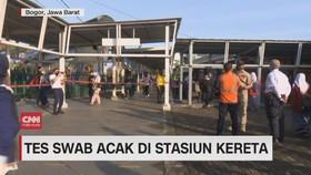 VIDEO: Tes Swab Acak di Stasiun Kereta