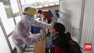 FOTO: Tes Antigen Acak di Stasiun Bekasi