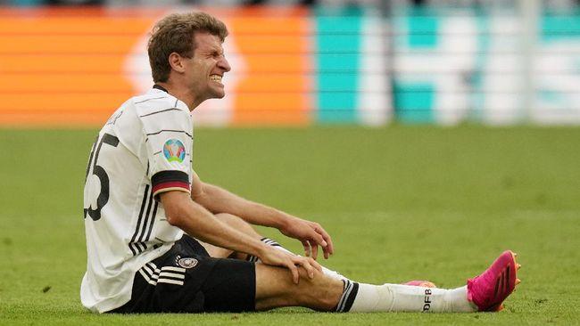 Empat pemain Jerman mengalami cedera dan absen latihan jelang melawan Hungaria pada laga krusial Grup F Euro 2020 (Euro 2021).