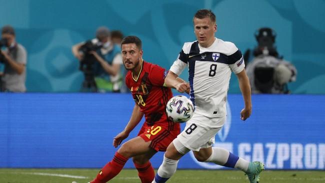 Euro 2020: Belgia Ditahan Imbang Finlandia di Babak Pertama