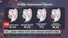 VIDEO: CDC: Lawan Varian Covid Baru Dengan Masker Dobel