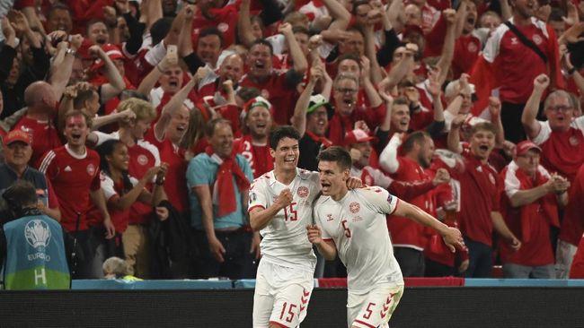 Timnas Denmark dan Austria menambah daftar tim yang lolos ke babak 16 besar Euro 2020 (Euro 2021) menjadi enam tim.
