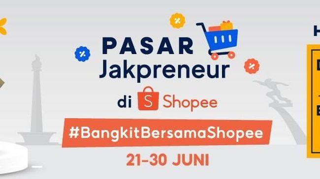 Shopee berkolaborasi bersama Pemprov DKI Jakarta menghadirkan Pasar Online Jakpreneur dalam gelaran Jakpreneur Fest 2021 untuk memeriahkan HUT Jakarta ke-949.