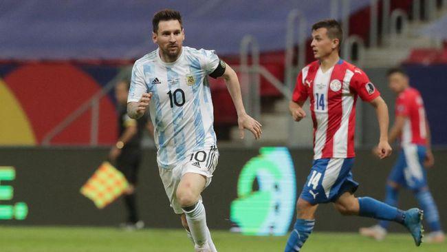 Lionel Messi menyamai rekor legenda Barcelona Javier Mascherano setelah tampil bersama timnas Argentina melawan Paraguay pada Copa America 2021.