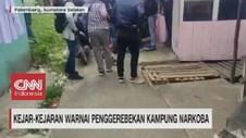 VIDEO: Kejar-kejaran Warnai Penggerebekan Kampung Narkoba