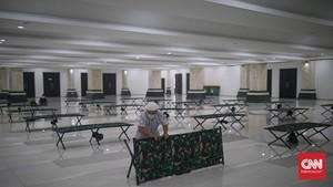 FOTO: Isolasi Pasien Covid di Masjid Hasyim Asy'ari