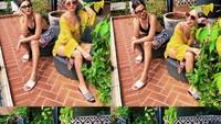 <p>Berjemur menjadi waktu Bunga Citra Lestari dan sahabatnya untuk berpose bak model majalah nih. Gaya mereka tetap stylish meski panas-panasan di bawah terik matahari. (Foto: Instagram: @bclsinclair)</p>