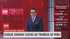 VIDEO: Kasus Harian Covid-19 Tembus 20 Ribu