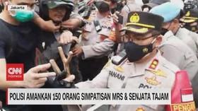 VIDEO: Polisi Amankan 150 Orang Simpatisan MRS & Sajam